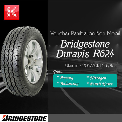 Foto Produk Ban Mobil Bridgestone Duravis R-624 205/70R15 8PR dari Kiosban