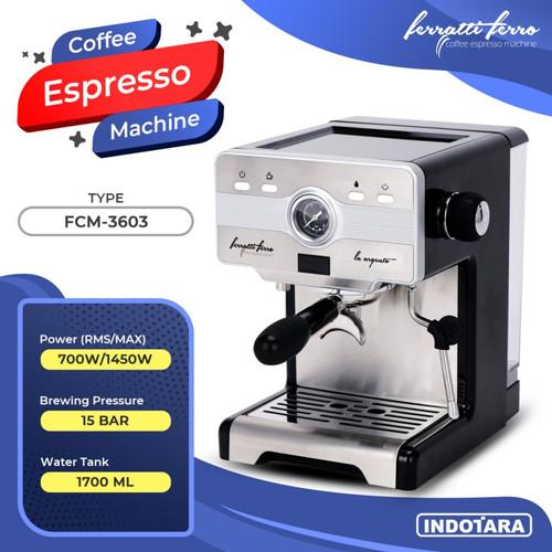 Foto Produk Mesin Kopi Espresso - Ferratti Ferro LA ARGENTO FCM-3603 - Hitam dari PT. Indotara Persada