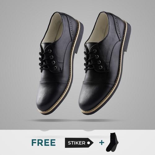 Foto Produk Sepatu Pantofel Pria HAWKIN BLACK| MONDAY FOOTWEAR - 40 dari Monday Official