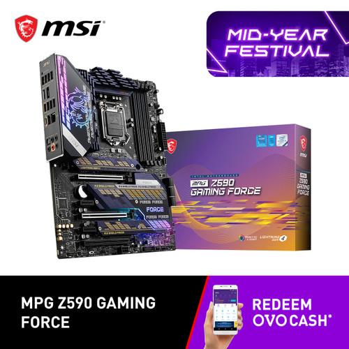Foto Produk MSI MPG Z590 GAMING FORCE LGA 1200 DDR4 MOTHERBOARD MAINBOARD INTEL dari YOUNGS COMPUTER