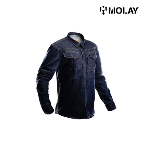 Foto Produk Molay Intruder Shirt - Indigo Denim, M dari Molay
