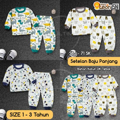 Foto Produk Setelan Baju Lengan Panjang + Celana Panjang Anak Bayi Balita SBJ-71SK - ASTRONOT, 1 - 2 Tahun dari indo ultimate