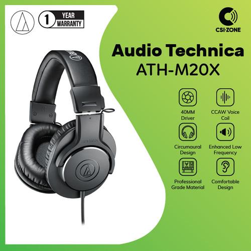 Foto Produk Audio Technica ATH-M20X Professional Monitor Headphone dari csi-zone