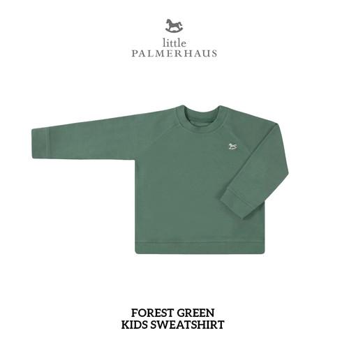 Foto Produk LITTLE PALMERHAUS - KIDS SWEATSHIRT COLORS 1 (SWEATER ANAK POLOS) - FOREST GREEN, 5 YEARS dari VDIVY