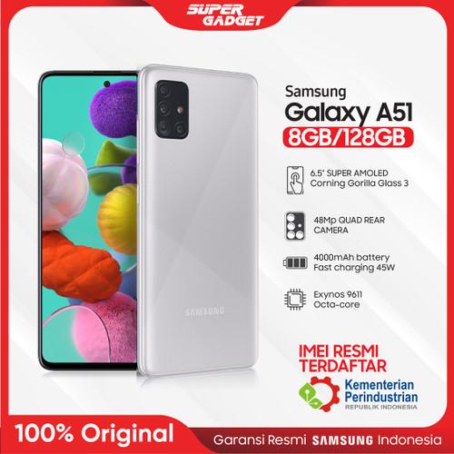 Foto Produk Samsung A51 8/128 GB Galaxy Amoled RAM 8 ROM 128 8GB 128GB Murah Resmi - Silver, Non Bundle dari SUPER_GADGET