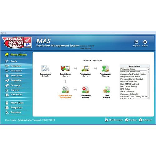 Foto Produk Software Bengkel MAS AHASS Unlimited dari Salma Komputer