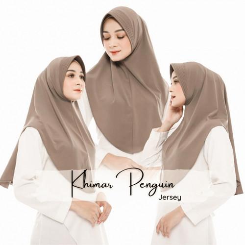 Foto Produk Hijab Instan Rabiah Bahan Jersey Motif Polos - Jilbab Simpel Daily - Army dari Tika Muslimah Collection