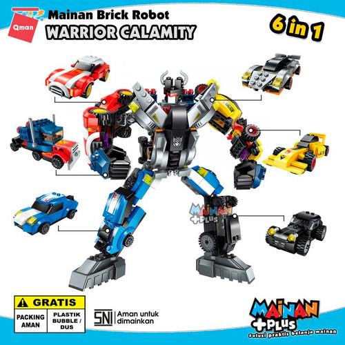 Foto Produk MAINAN LEGO ANAK LAKI LAKI QMAN BRICK ROBOT WARRIOR CALAMITY 6 IN 1 dari MainanPlus