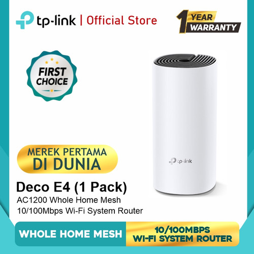 Foto Produk Tp-link Deco E4 1pack /2pack/ 3pack Whole Home Mesh Wifi System router - 1 pack dari TP-Link Official