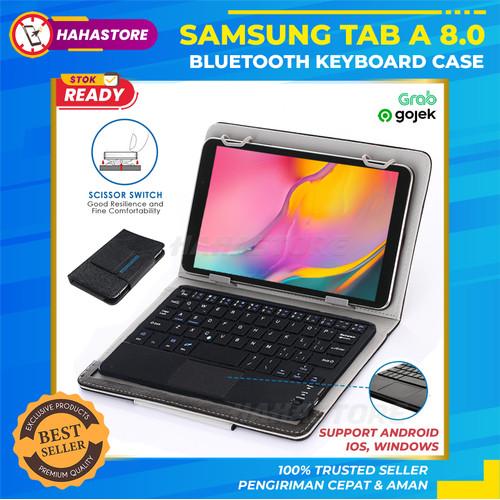 Foto Produk Samsung Tab A 8.0 A8 8 2019 T295 Touchpad Keyboard Flip Case Cover dari HahaStore