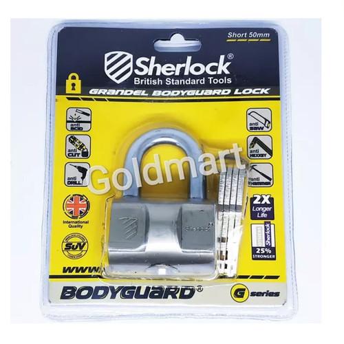 Foto Produk Sherlock Gembok 50mm Pendek Grandel Bodyguard dari Gold-Mart