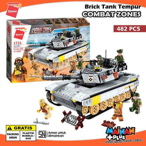 Foto Produk MAINAN EDUKASI BRICK ANAK LAKI-LAKI LEGO TANK QMAN COMBAT ZONES dari MainanPlus