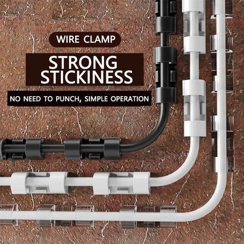 Foto Produk Klip Penjepit Kabel Klem Perapih kabel WIRE HOSE CLAMP ISI 20 PCS - KECIL BENING dari daffin