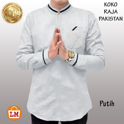 Foto Produk LM 15351-15359 Baju Koko Pria Lengan Panjang QURTA RAJA PAKISTAN JUMBO - Putih, M dari Lobby Mode
