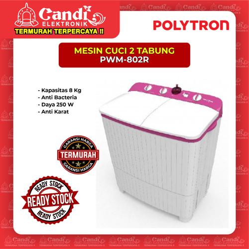 Foto Produk MESIN CUCI 2 TABUNG POLYTRON PWM-802R dari Candi Elektronik Solo