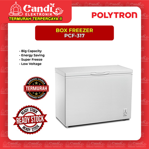 Foto Produk BOX FREEZER 300 LITER POLYTRON PCF-317 dari Candi Elektronik Solo