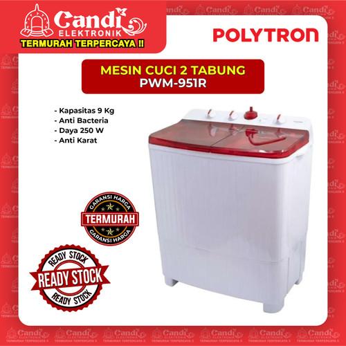 Foto Produk MESIN CUCI 2 TABUNG POLYTRON PWM-951R dari Candi Elektronik Solo