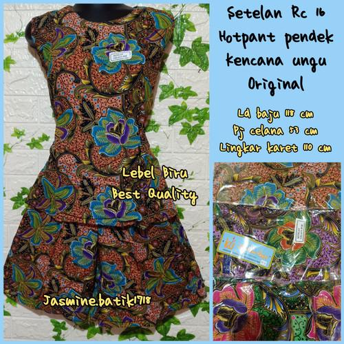 Foto Produk SETELAN CELANA PENDEK YUKENSI KENCANA UNGU KUB dari jasmine.batik1718