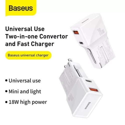 Foto Produk Baseus Universal Conversion Plug PPS Charger C+U 18W Original dari PojokITcom Pusat IT Comp