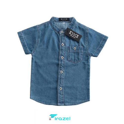 Foto Produk KEMKO ( KEMEJA KOKO ) Jeans Anak - LIGHT-BLUE, 1-2 TAHUN NO 2 dari FIRAZEL
