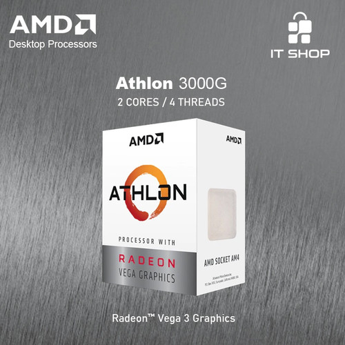 Foto Produk Processor AMD AM4 Athlon 3000G dari IT-SHOP-ONLINE