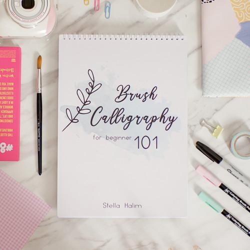 Foto Produk Buku Brush Calligraphy 101 by Stella Halim - Digital, Tanpa Kelas dari Belajar Calligraphy