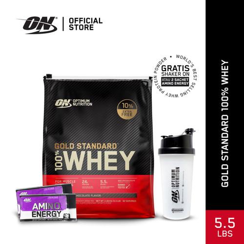 Foto Produk Optimum Nutrition 100% Gold Standard Whey 5.5Lbs Double Rich Chocolate dari Optimum Nutrition