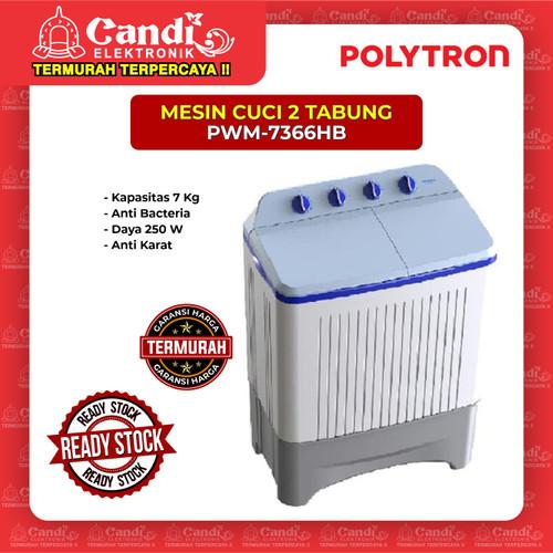 Foto Produk MESIN CUCI 2 TABUNG POLYTRON PWM-7366HB dari Candi Elektronik Solo