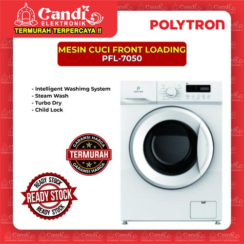 Foto Produk MESIN CUCI FRONT LOADING POLYTRON PFL-7050 dari Candi Elektronik Solo