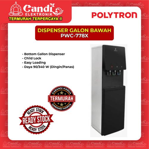 Foto Produk DISPENSER GALON BAWAH POLYTRON PWC-778X dari Candi Elektronik Solo