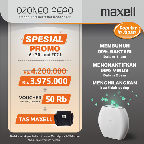 Foto Produk MAXELL OZONEO AERO MXAP-AE270WH AIR PURIFIER ANTI VIRUS & ANTI BAKTERI dari Maxell Projector