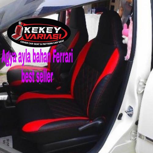 Foto Produk sarung jok mobil bahan ferari Agya ayla Brio Yaris Karimun Soluna dll dari kekey variasi