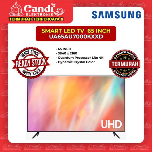 Foto Produk SMART TV LED TV SAMSUNG 65 INCH UA65AU7000KXXD dari Candi Elektronik Solo