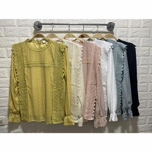 Foto Produk Lace Blouse Import - Kuning dari kawaiistationery