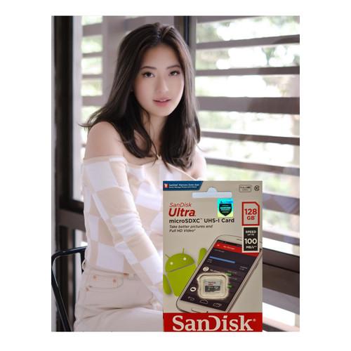Foto Produk Sandisk Ultra Micro SD 128GB 100Mbps CLASS 10 MicroSDXC Original - 100mbps dari Aquarius Official