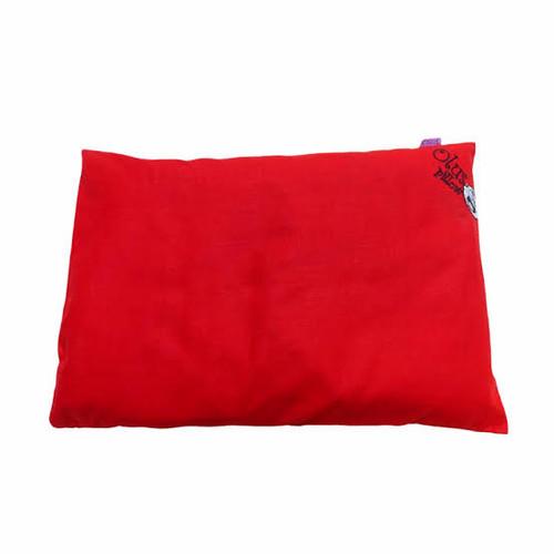 Foto Produk olus pillow bantal kepala bayi anti peyang ollus kulit kacang hijau - Merah dari aisyah_gallery