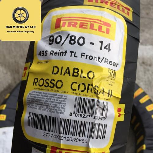 Foto Produk Pirelli Diablo Rosso Corsa 2 90/80-14 Ban Motor Matic Beat Vario Mio dari BAN MOTOR NY LAN