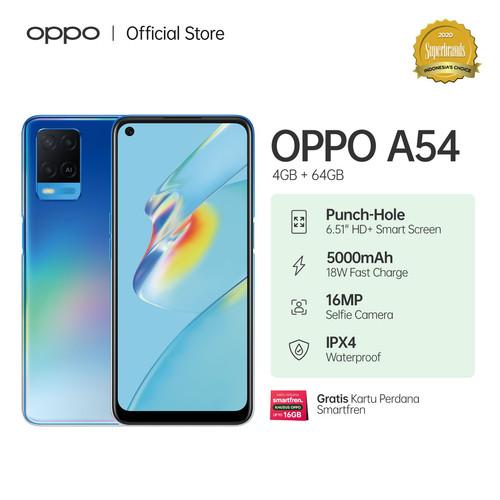Foto Produk OPPO A54 Smartphone 4GB/64GB (Garansi Resmi) - Biru dari OPPO OFFICIAL STORE