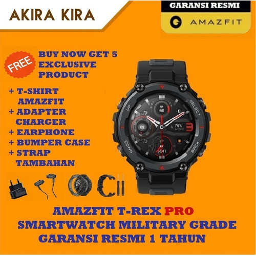 Foto Produk Amazfit T-Rex Pro Military Grade TREX Garansi Resmi Amazfit Indonesia - Meteorite Black dari akira kira