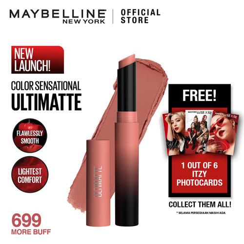 Foto Produk Maybelline Color Sensational Ultimatte Slim Lipstick - 699 MORE BUFF dari Maybelline Official Shop
