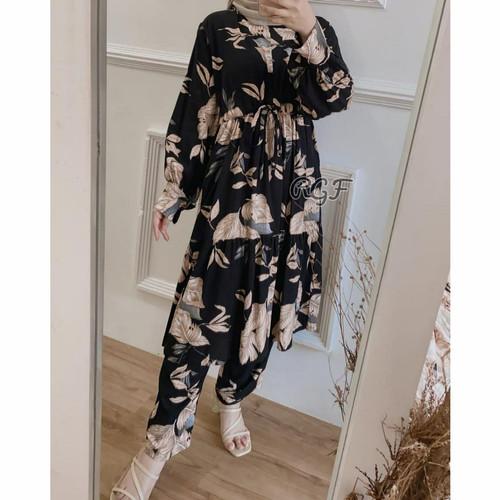 Foto Produk baju setelan wanita muslim piyama kekinian mat rayon premium 3 - warna 1 dari Kayraa store