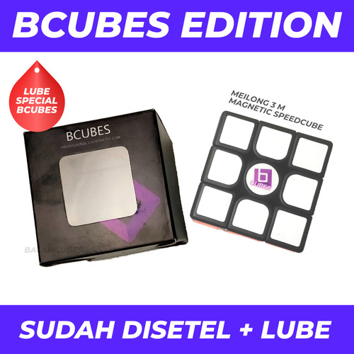 Foto Produk Rubik 3x3 Bcubes Meilong 3 M / Magnetic 3x3 - BLACK dari Balam Cubes