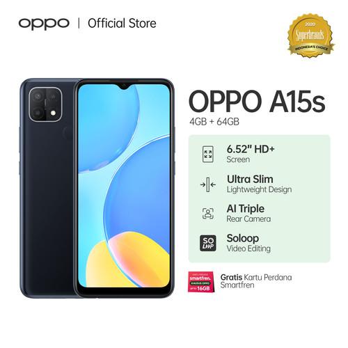 Foto Produk OPPO A15S Smartphone 4GB/64GB (Garansi Resmi) - Hitam dari OPPO OFFICIAL STORE