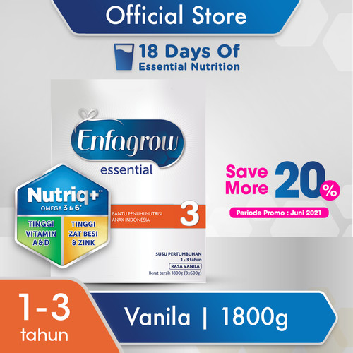 Foto Produk Enfagrow Essential 3 1800g dari Enfa A+ Official Store