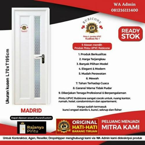 Foto Produk Pintu UPVC Rubicon Madrid RC-04 - Engsel Kiri, Kunci Bulat Eng dari rajanyapintusby