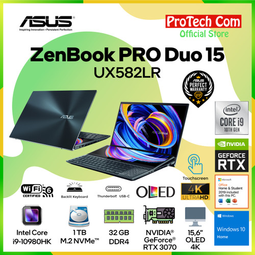 Foto Produk ASUS ZENBOOK PRO DUO UX582LR-OLED911 I9-10980HK 32GB 1TB RTX3070 8GB dari Protech Computer