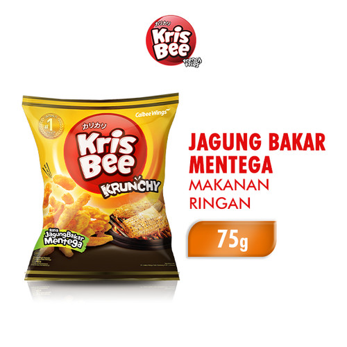 Foto Produk Krisbee Krunchy Makanan Ringan Jagung Bakar Mentega 75 gr dari Wings Official Store