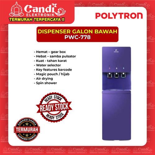 Foto Produk DISPENSER GALON BAWAH POLYTRON PWC-778 dari Candi Elektronik Solo