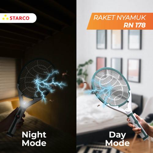 Foto Produk Starco Raket Nyamuk LED Light Rechargeable RN178 dari Starco Official Store