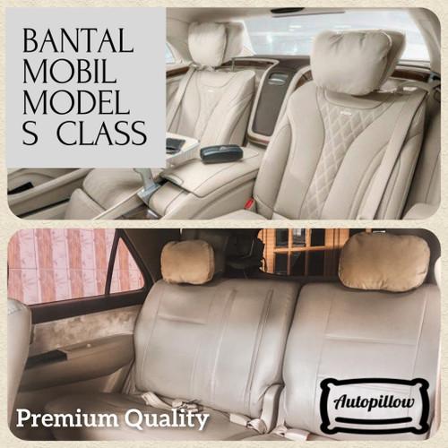 Foto Produk BANTAL MOBIL S CLASS   BANTAL MOBIL UNIVERSAL UNTUK SANDARAN KEPALA - Hitam dari Autopillow